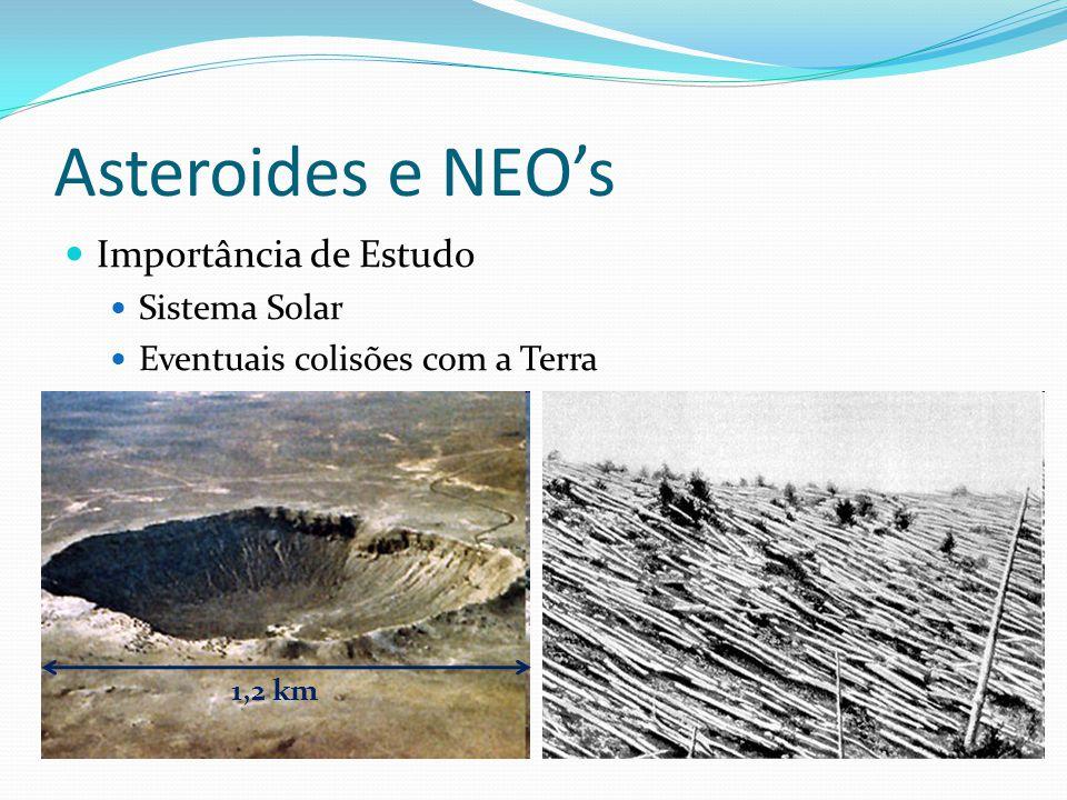 Asteroides e NEO's  Importância de Estudo  Sistema Solar  Eventuais colisões com a Terra 1,2 km