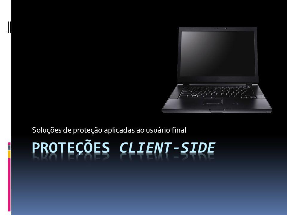 Soluções de proteção aplicadas ao usuário final