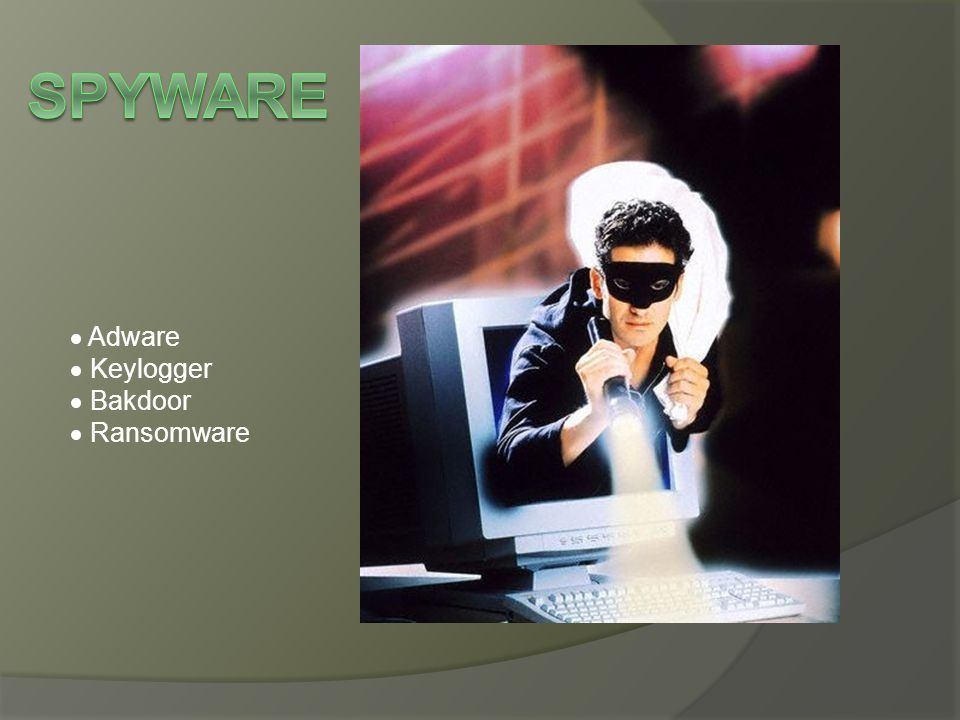  Adware  Keylogger  Bakdoor  Ransomware