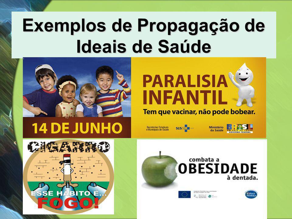 Exemplos de Propagação de Ideais de Saúde