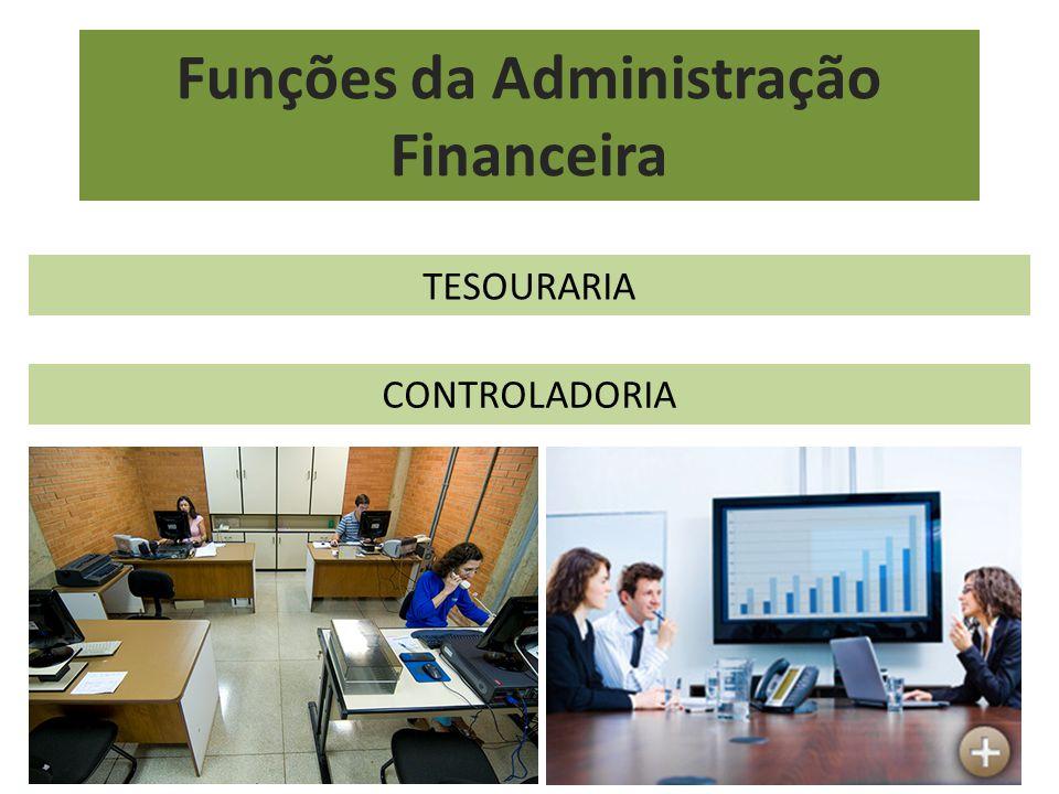Funções da Administração Financeira TESOURARIA CONTROLADORIA