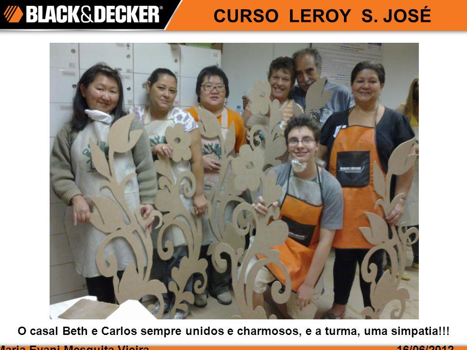 CURSO LEROY S.JOSÉ Maria Evani Mesquita Vieira16/06/2012 Ao todo, participaram 20 pessoas.