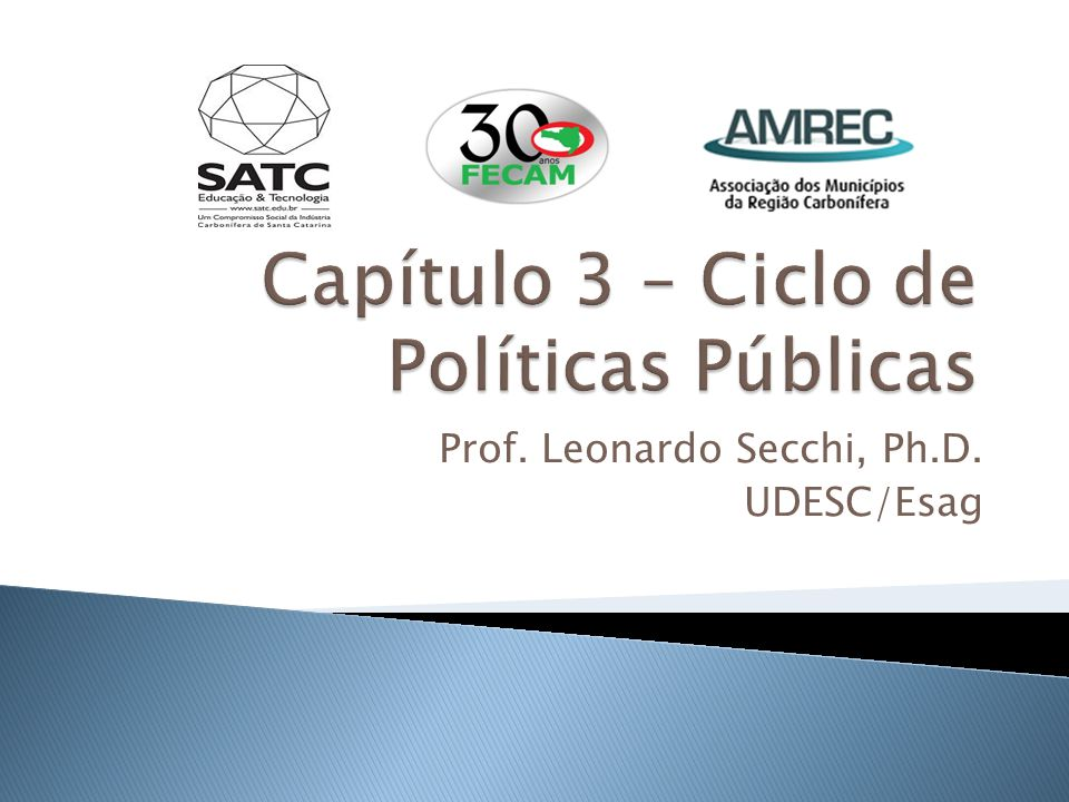 Prof. Leonardo Secchi, Ph.D. UDESC/Esag