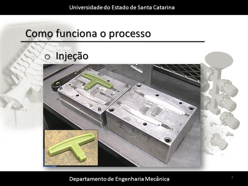 Universidade do Estado de Santa Catarina Departamento de Engenharia Mecânica 8 Como funciona o processo o Montagem em Cachos