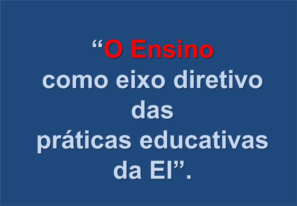"""""""O Ensino como eixo diretivo das práticas educativas da EI""""."""