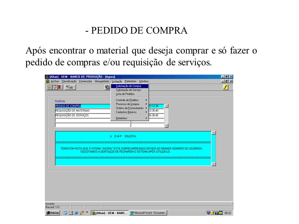 - PEDIDO DE COMPRA