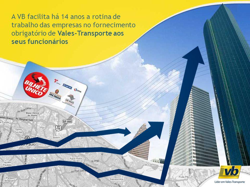 A VB facilita há 14 anos a rotina de trabalho das empresas no fornecimento obrigatório de Vales-Transporte aos seus funcionários
