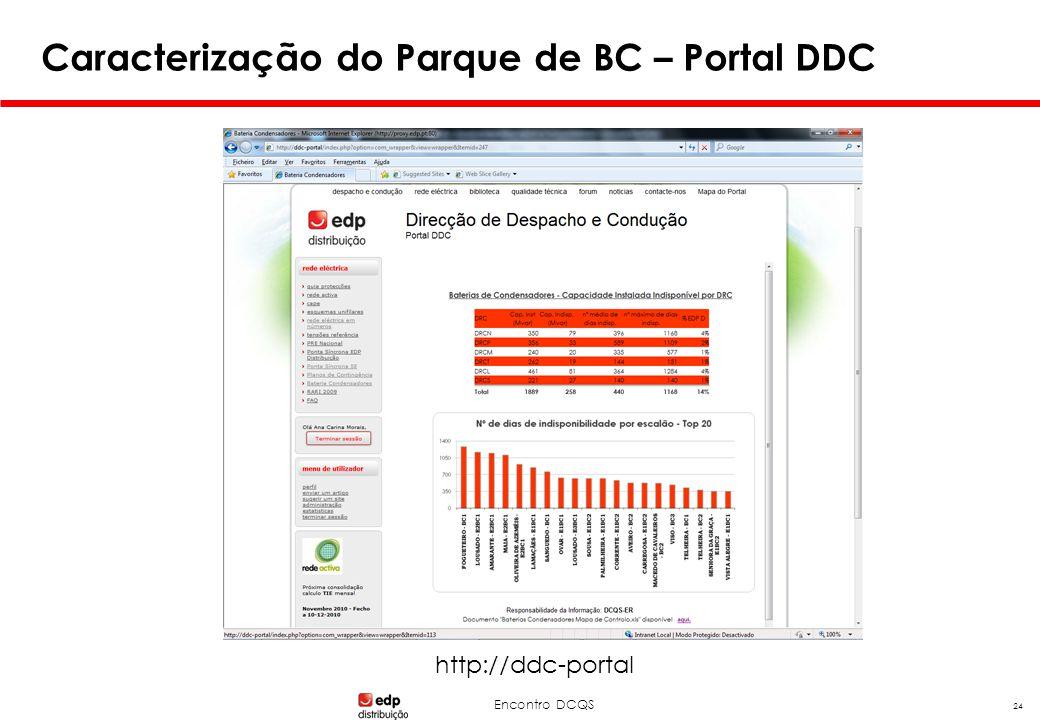 Encontro DCQS 24 Caracterização do Parque de BC – Portal DDC http://ddc-portal