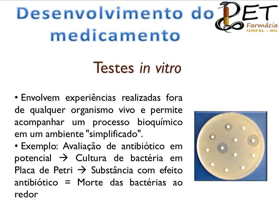 • Envolvem experiências realizadas fora de qualquer organismo vivo e permite acompanhar um processo bioquímico em um ambiente