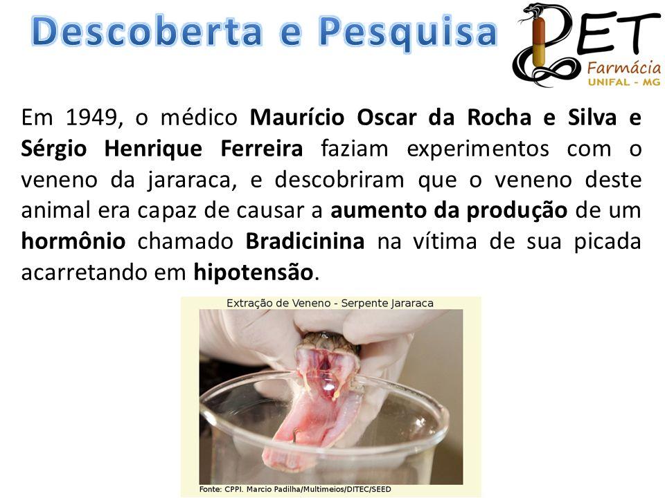 Em 1949, o médico Maurício Oscar da Rocha e Silva e Sérgio Henrique Ferreira faziam experimentos com o veneno da jararaca, e descobriram que o veneno