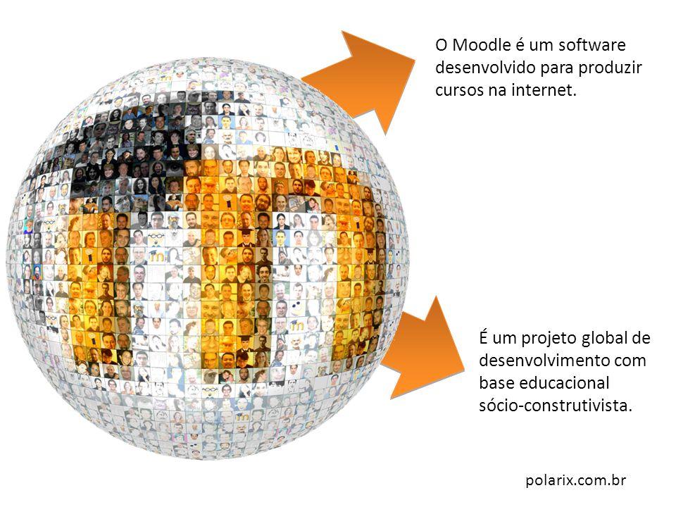 polarix.com.br O Moodle é um software desenvolvido para produzir cursos na internet. É um projeto global de desenvolvimento com base educacional sócio