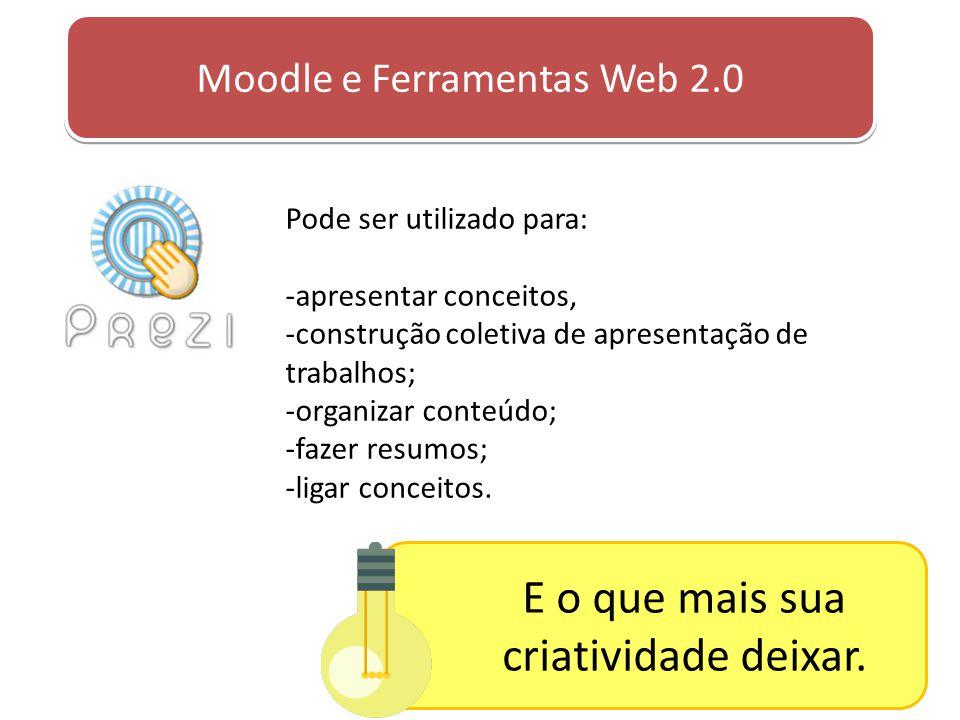 Pode ser utilizado para: -apresentar conceitos, -construção coletiva de apresentação de trabalhos; -organizar conteúdo; -fazer resumos; -ligar conceit