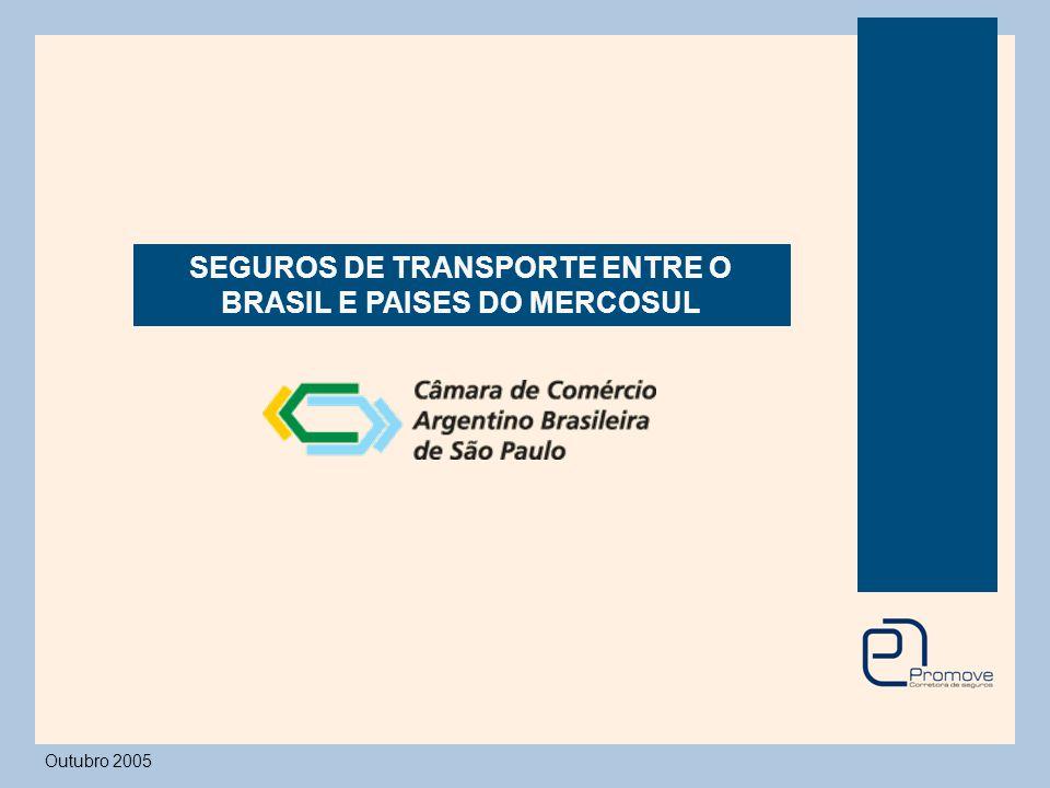 Seguro de Transporte - Transportadores 98 % do volume de mercadorias transportadas para o Mercosul é feito por via Terrestre e Marítima / Fluvial Por esse motivo, enfocaremos os seguros contratados para essas modalidades de transportes.