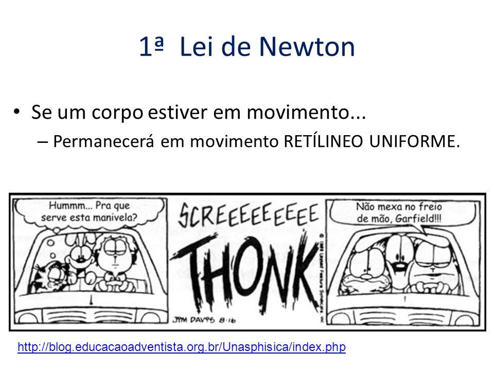 1ª Lei de Newton • Se um corpo estiver parado...– Permanecerá parado.