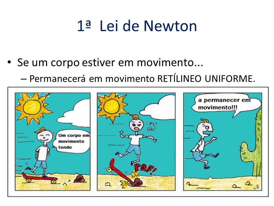 1ª Lei de Newton • Se um corpo estiver em movimento... – Permanecerá em movimento RETÍLINEO UNIFORME. http://blog.educacaoadventista.org.br/Unasphisic