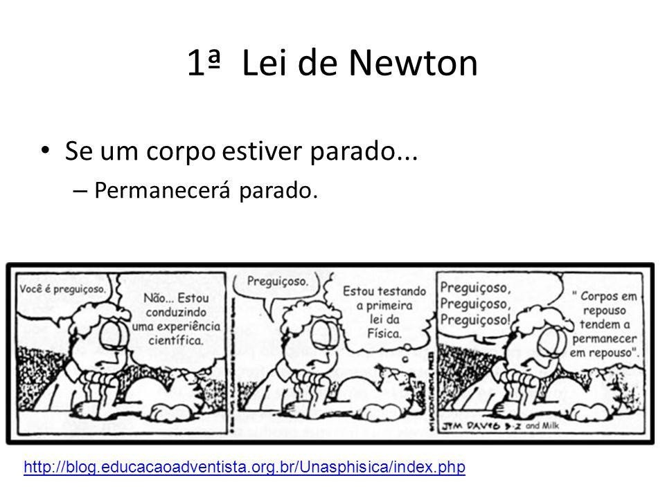 1ª Lei de Newton Lei da Inércia Propriedade da matéria de resistir a qualquer variação no seu estado de movimento ou de repouso http://blog.educacaoad