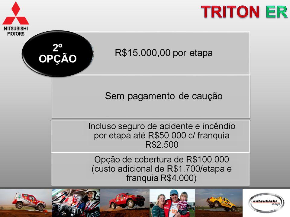 R$15.000,00 por etapa Sem pagamento de caução 2º OPÇÃO