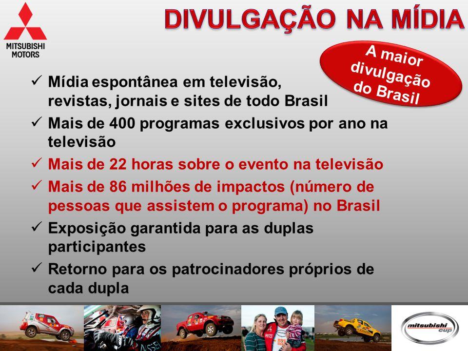  Mídia espontânea em televisão, revistas, jornais e sites de todo Brasil  Mais de 400 programas exclusivos por ano na televisão  Mais de 22 horas s