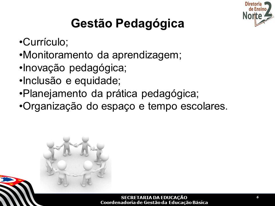 SECRETARIA DA EDUCAÇÃO Coordenadoria de Gestão da Educação Básica 7 Gestão Pedagógica Os planos de Ensino, em consonância com a Proposta Pedagógica da escola, dialogam com o Currículo do Estado de São Paulo atendendo aos interesses e as necessidades dos alunos?