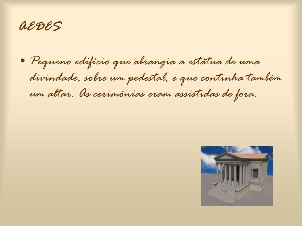 •Nas paredes dos templos havia quase sempre lápides gravadas com as normas dos ritos a celebrar – leges templorum. •Apenas as cerimónias mais pequenas