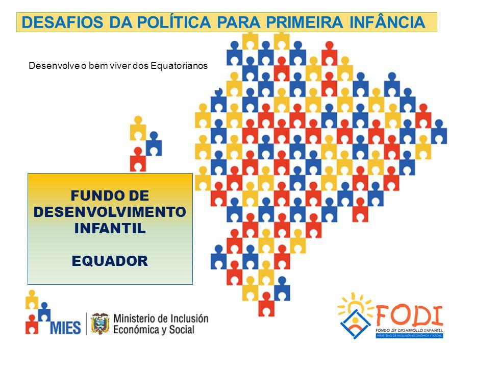 FUNDO DE DESENVOLVIMENTO INFANTIL EQUADOR DESAFIOS DA POLÍTICA PARA PRIMEIRA INFÂNCIA Desenvolve o bem viver dos Equatorianos