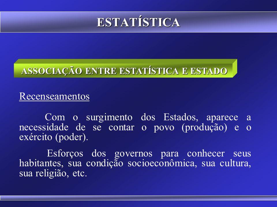 """ESTATÍSTICA ESTATÍSTICA statusisticum Origem no latim status (estado) + isticum (contar) """"Informações referentes ao estado"""" Coleta, Organização, Descr"""