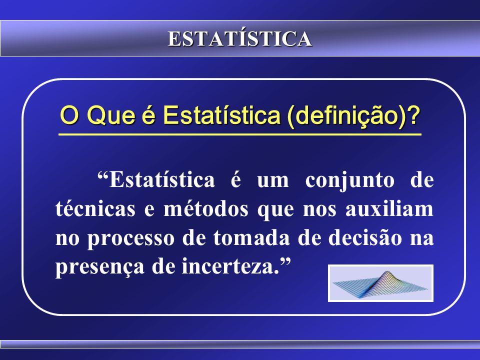 ESTATÍSTICA COEFICIENTE DE VARIAÇÃO Classificação da proporção que o desvio padrão apresenta sobre a média.