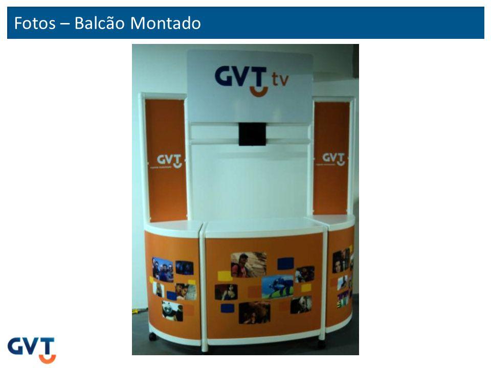 Fotos – Balcão Montado (vista interna) Vista da prateleira e porta com chave Vista geral interna Sugestão de fixação de cabeamento do monitor de TV