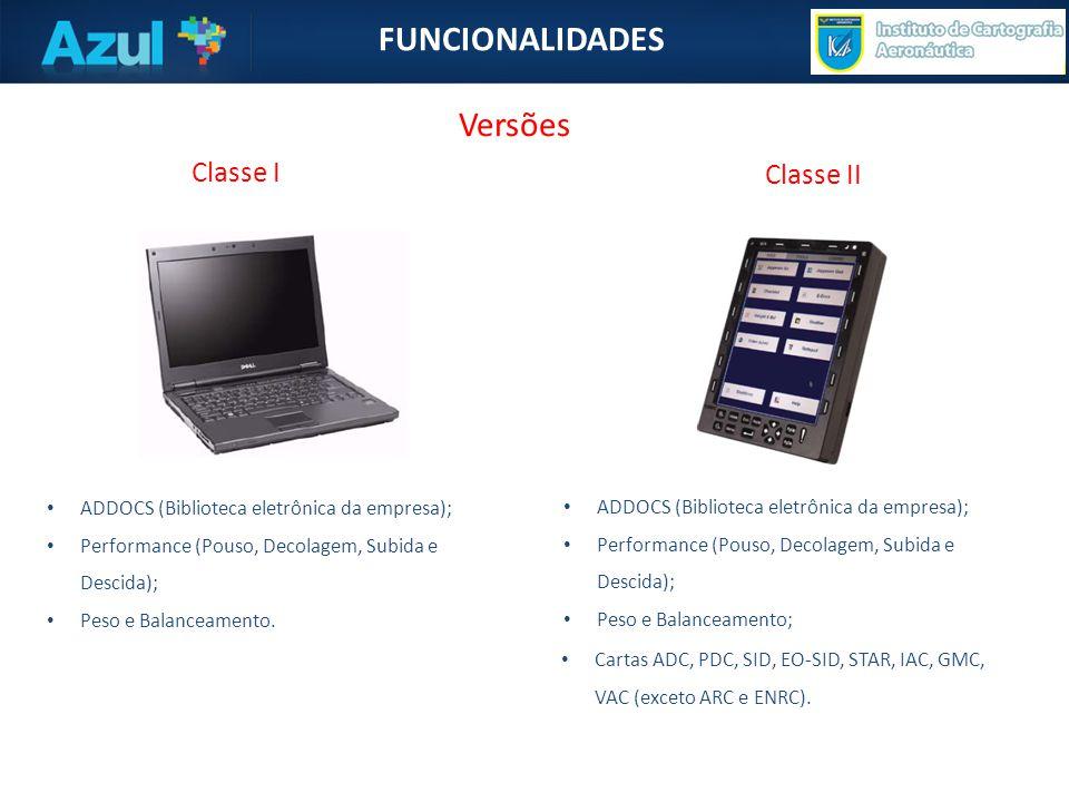 • ADDOCS (Biblioteca eletrônica da empresa); • Performance (Pouso, Decolagem, Subida e Descida); • Peso e Balanceamento.