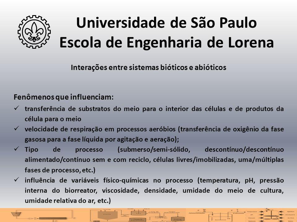 Universidade de São Paulo Escola de Engenharia de Lorena Interações entre sistemas bióticos e abióticos Fenômenos que influenciam:  transferência de