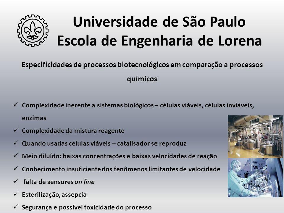 Universidade de São Paulo Escola de Engenharia de Lorena Especificidades de processos biotecnológicos em comparação a processos químicos  Complexidad