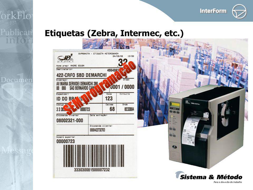 Etiquetas (Zebra, Intermec, etc.)