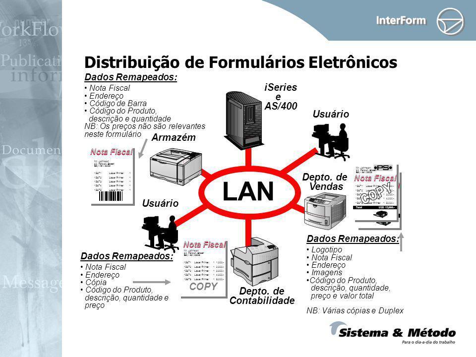 Distribuição de Formulários Eletrônicos Nota Fiscal 15871 Laser Printer 1 1,000.- 15872 Laser Printer 1 2,000.- 15873 Laser Printer 1 3,000.- 15874 La