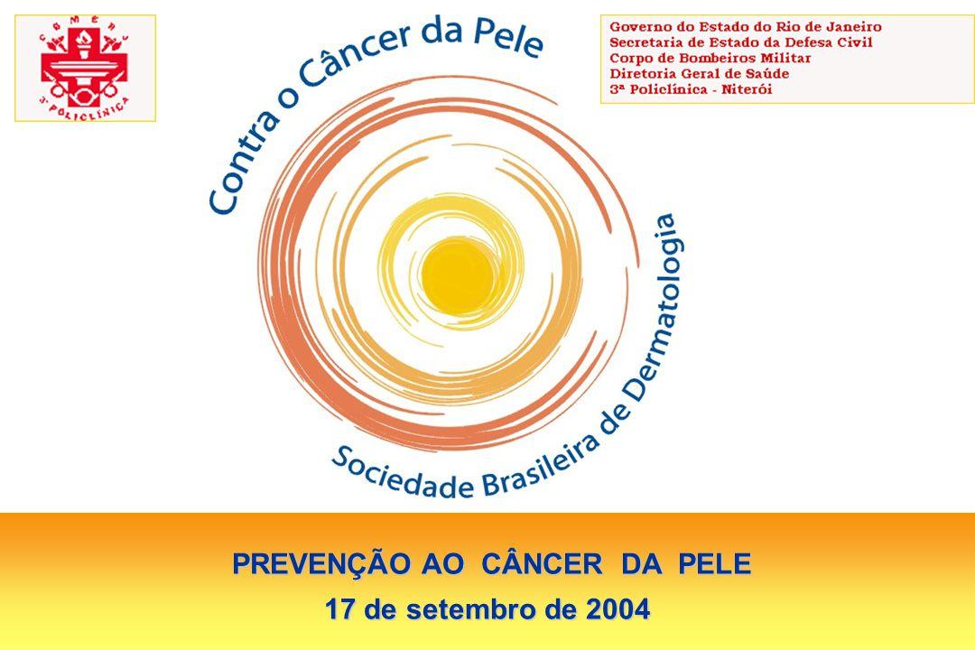 PREVENÇÃO AO CÂNCER DA PELE PREVENÇÃO AO CÂNCER DA PELE 17 de setembro de 2004