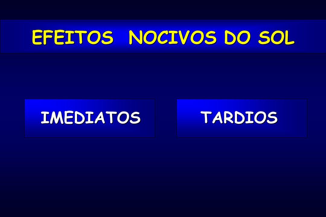 EFEITOS NOCIVOS DO SOL IMEDIATOS TARDIOS