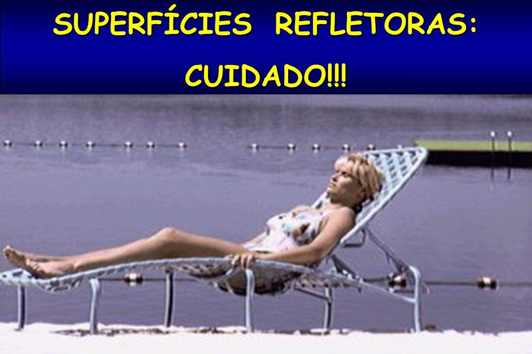 SUPERFÍCIES REFLETORAS: CUIDADO!!!