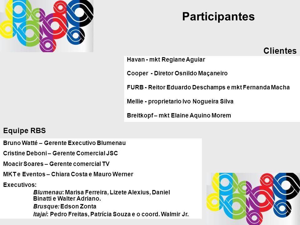 Participantes Havan - mkt Regiane Aguiar Cooper - Diretor Osnildo Maçaneiro FURB - Reitor Eduardo Deschamps e mkt Fernanda Macha Mellie - proprietario