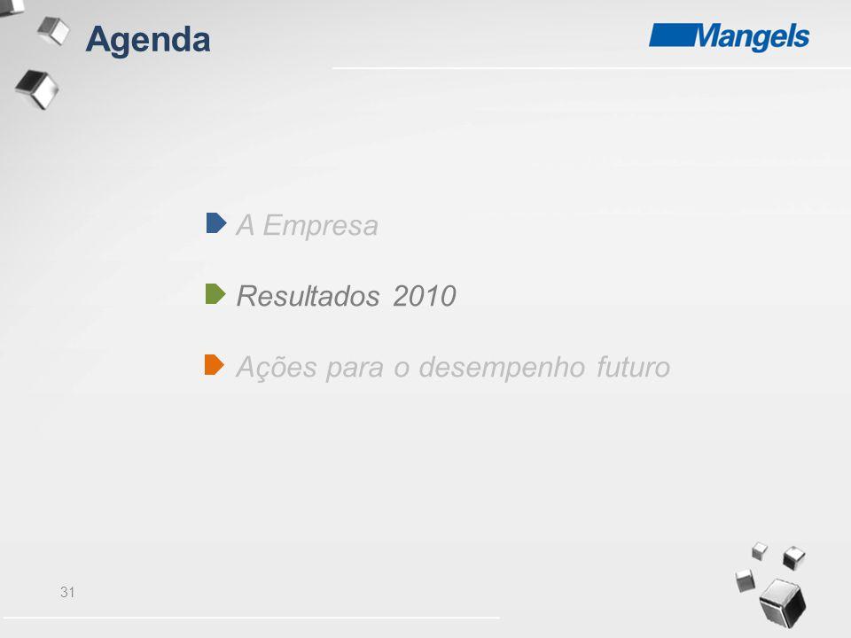 31 A Empresa Resultados 2010 Ações para o desempenho futuro Agenda