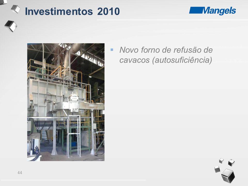 44  Novo forno de refusão de cavacos (autosuficiência) Investimentos 2010