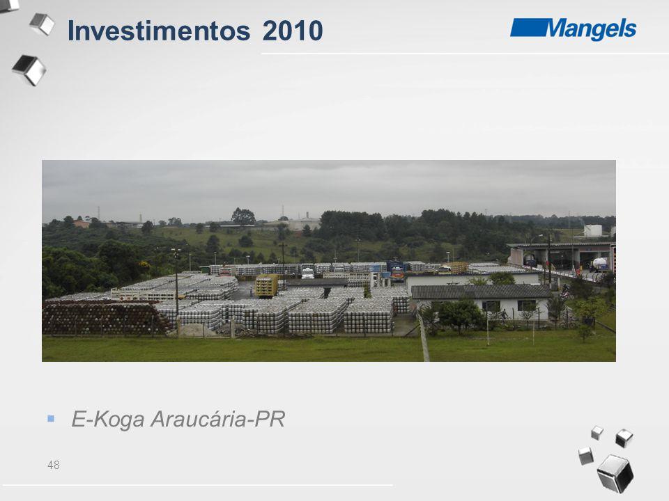 48  E-Koga Araucária-PR Investimentos 2010