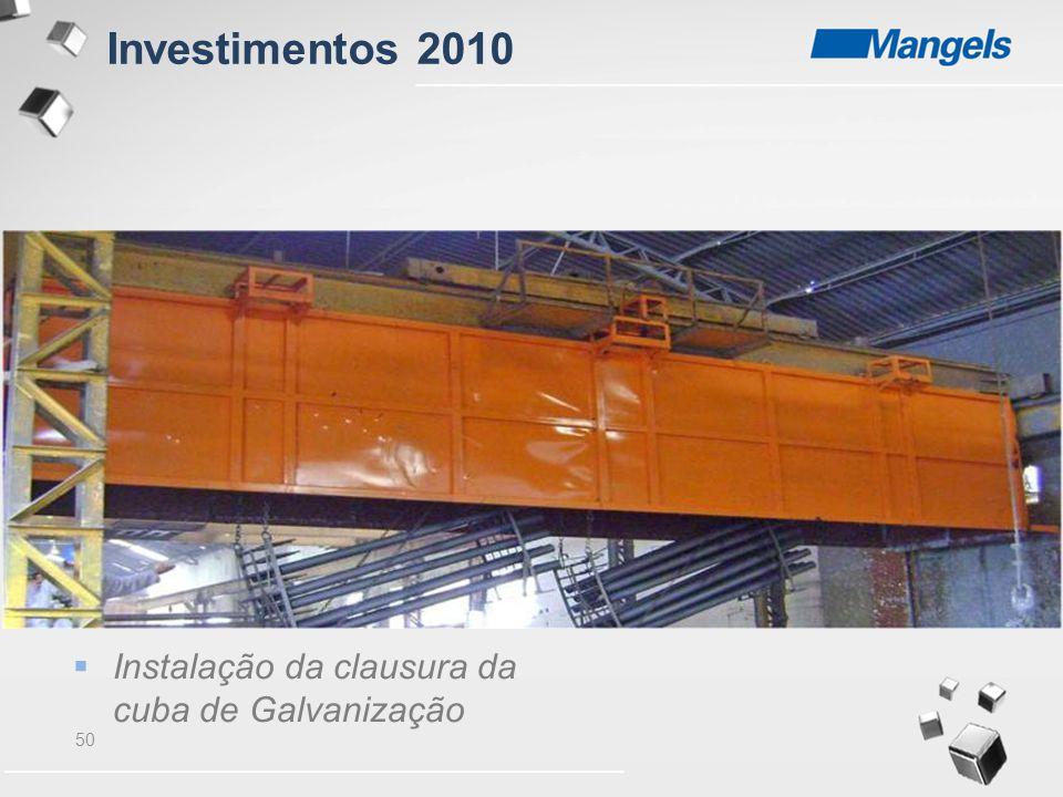 50  Instalação da clausura da cuba de Galvanização Investimentos 2010