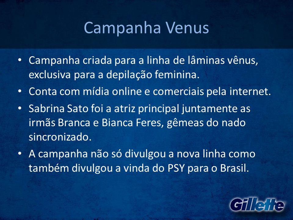 Campanha Venus • Campanha criada para a linha de lâminas vênus, exclusiva para a depilação feminina. • Conta com mídia online e comerciais pela intern