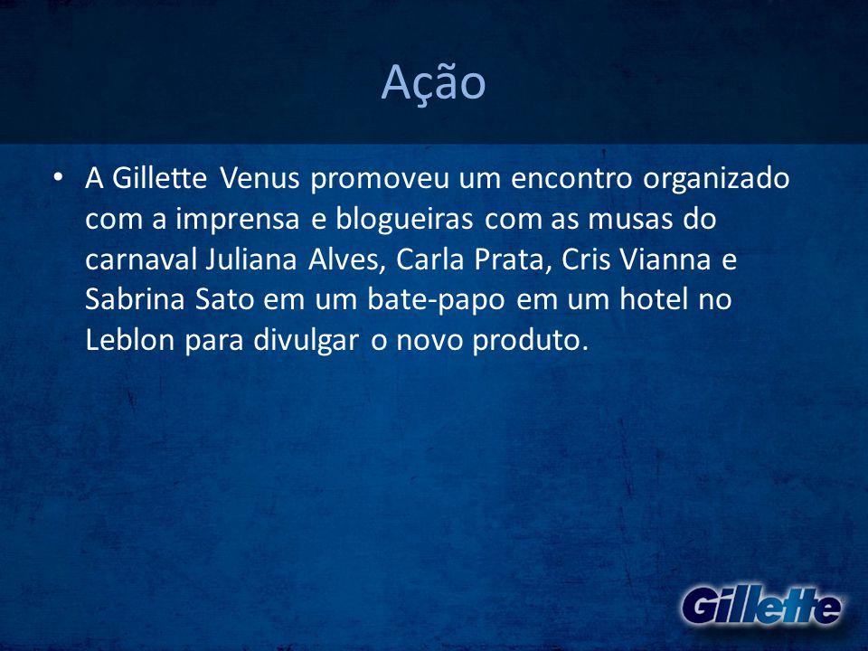 Ação • A Gillette Venus promoveu um encontro organizado com a imprensa e blogueiras com as musas do carnaval Juliana Alves, Carla Prata, Cris Vianna e
