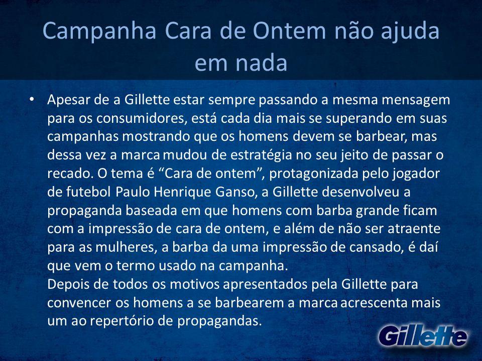 Campanha Cara de Ontem não ajuda em nada • Apesar de a Gillette estar sempre passando a mesma mensagem para os consumidores, está cada dia mais se sup