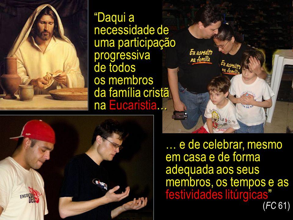 """""""Em virtude da sua dignidade e missão, os pais cristãos têm o dever específico de educar os filhos para a oração, de os introduzir na descoberta progr"""