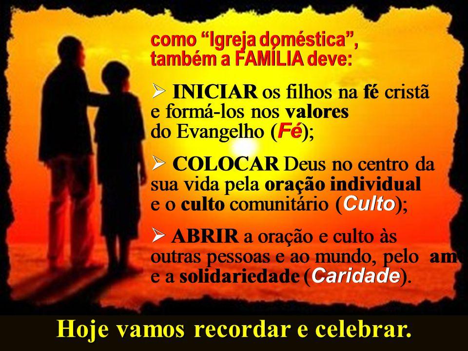"""A Família é uma """"Ecclesia domestica"""" ( LG 11) ou """"Igreja em miniatura"""" (João Paulo II, FC 49) A Família é uma """"Ecclesia domestica"""" ( LG 11) ou """"Igreja"""