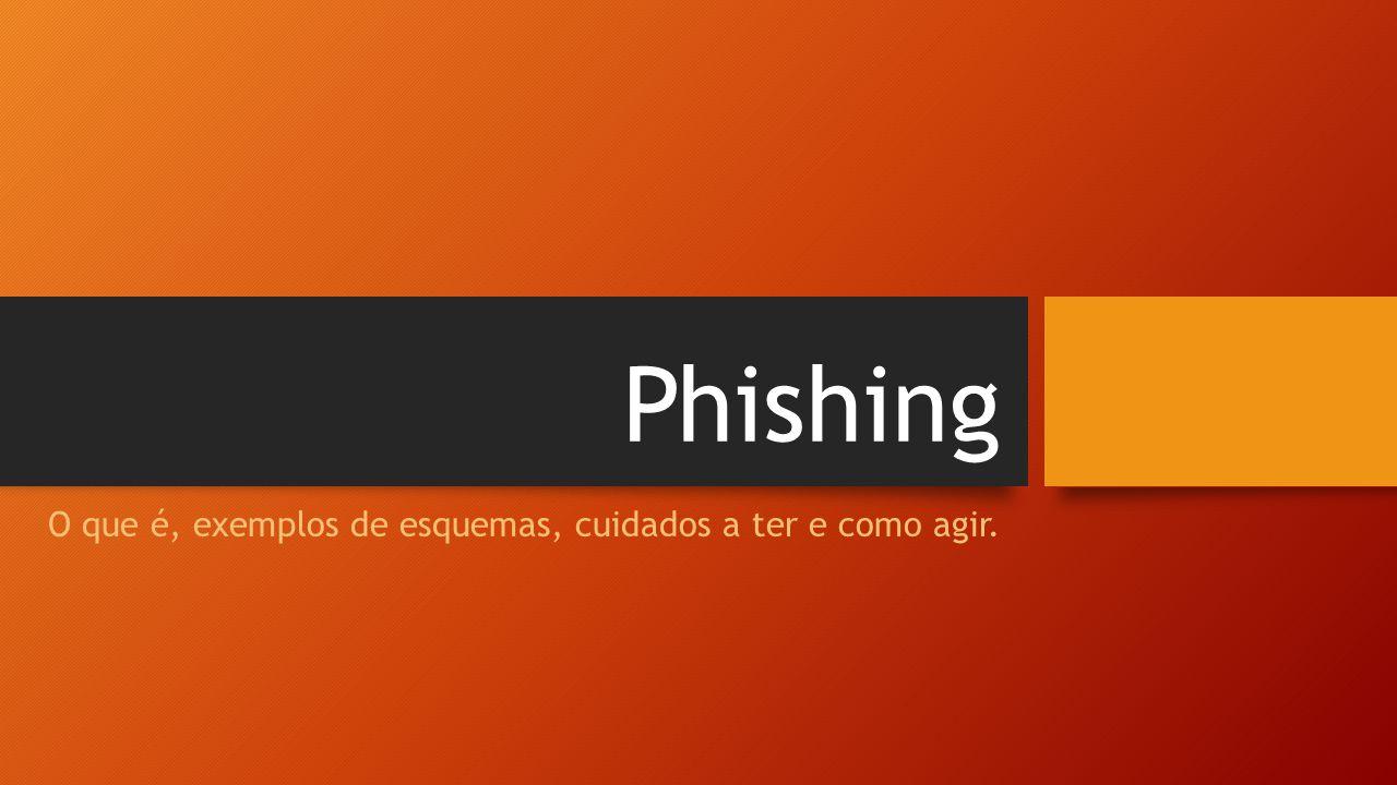 Phishing O que é, exemplos de esquemas, cuidados a ter e como agir.
