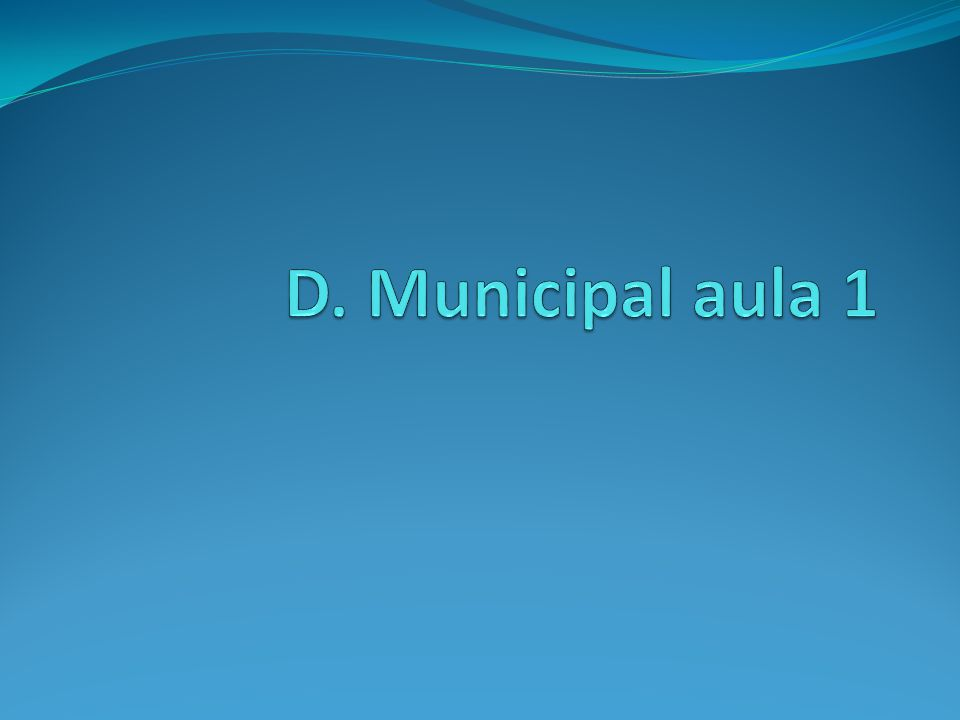 Conceito inicial de município: Município é pessoa jurídica de direito público interno Art.