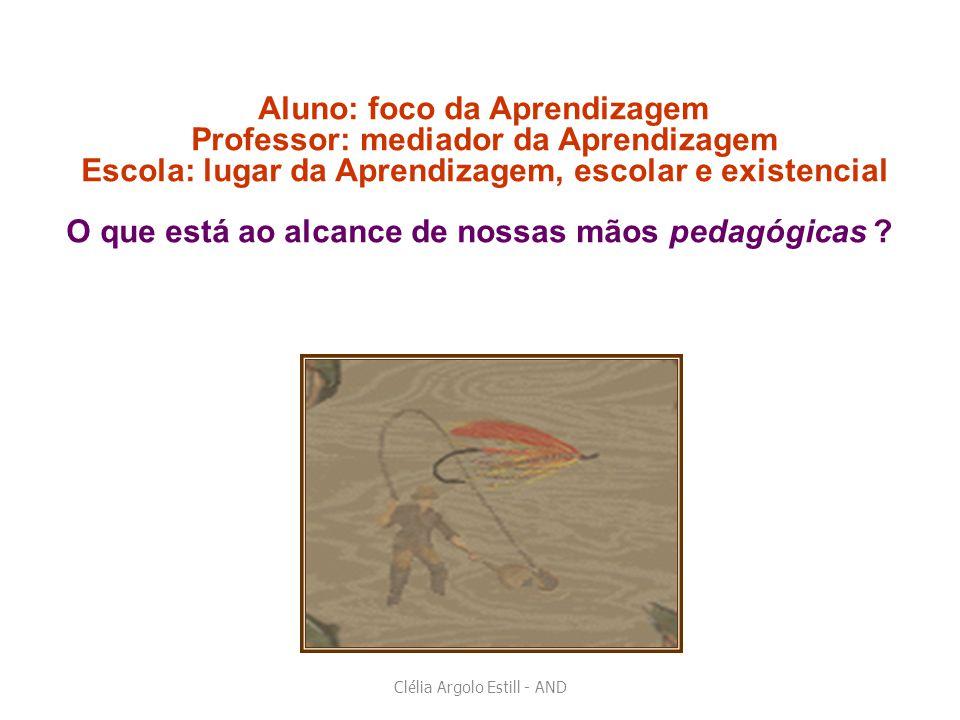 Aluno: foco da Aprendizagem Professor: mediador da Aprendizagem Escola: lugar da Aprendizagem, escolar e existencial O que está ao alcance de nossas m
