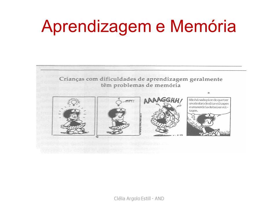 Aprendizagem e Memória Clélia Argolo Estill - AND
